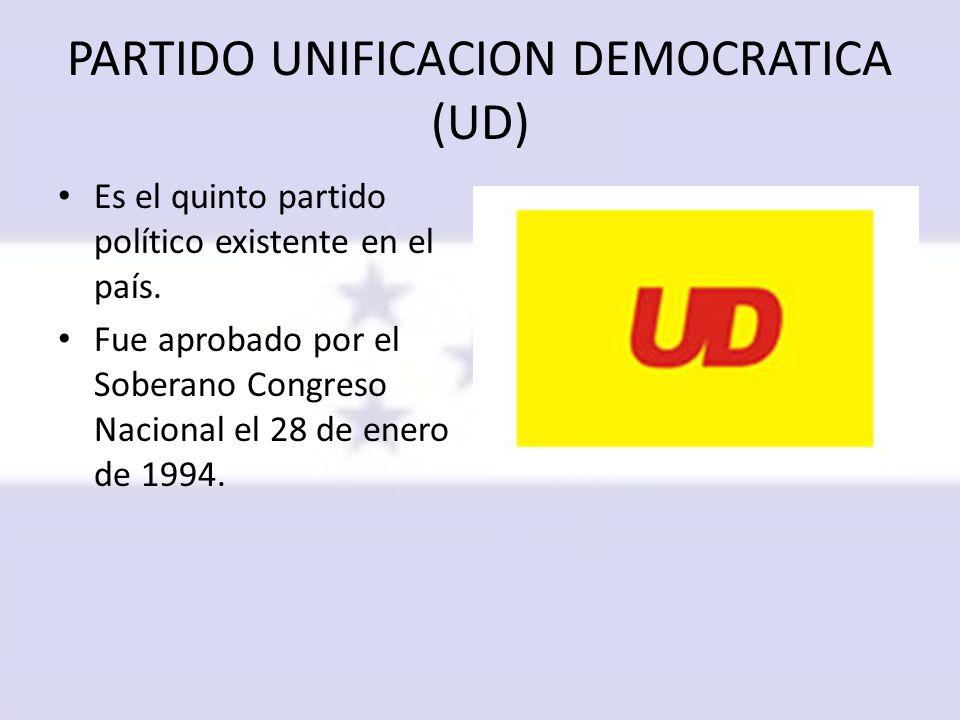 PARTIDO UNIFICACION DEMOCRATICA (UD)