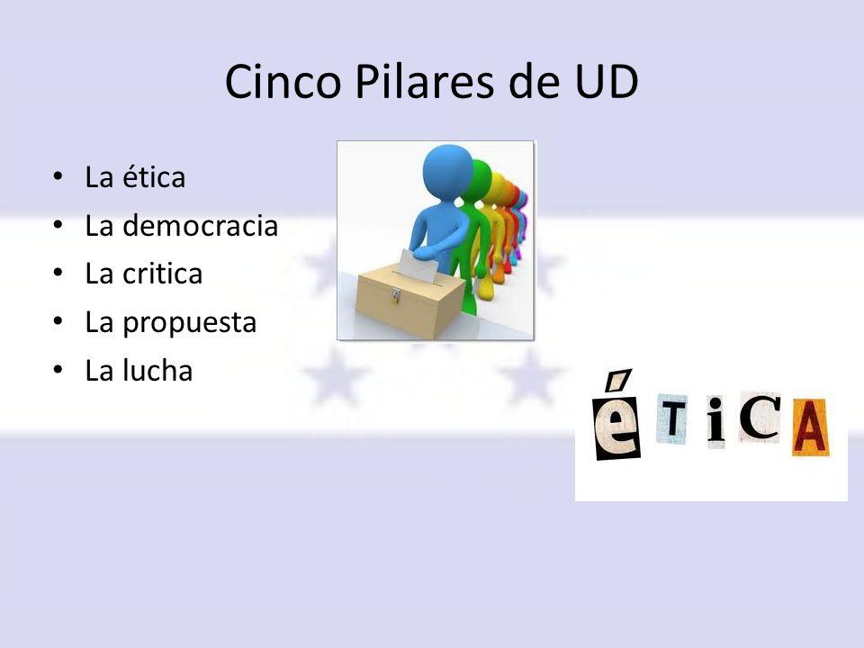 Cinco Pilares de UD La ética La democracia La critica La propuesta
