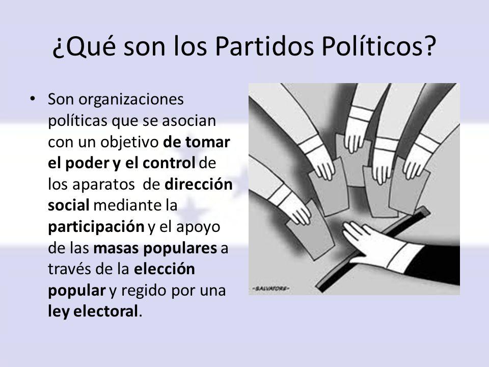 ¿Qué son los Partidos Políticos