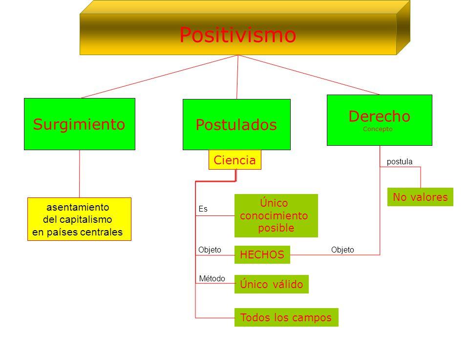Positivismo Derecho Surgimiento Postulados Ciencia No valores Único