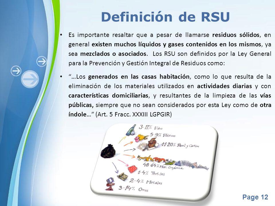 Definición de RSU