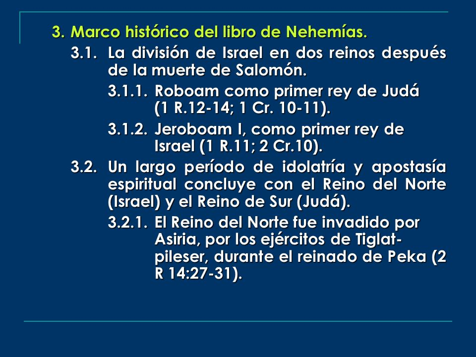 Marco histórico del libro de Nehemías.