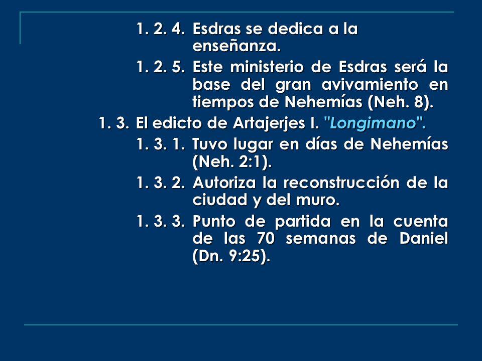 1. 2. 4. Esdras se dedica a la enseñanza.