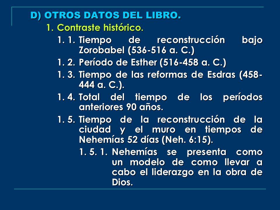 D) OTROS DATOS DEL LIBRO.