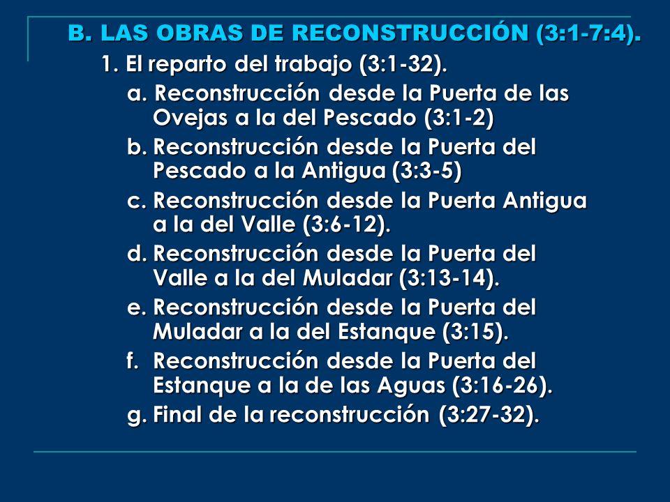 B. LAS OBRAS DE RECONSTRUCCIÓN (3:1-7:4).
