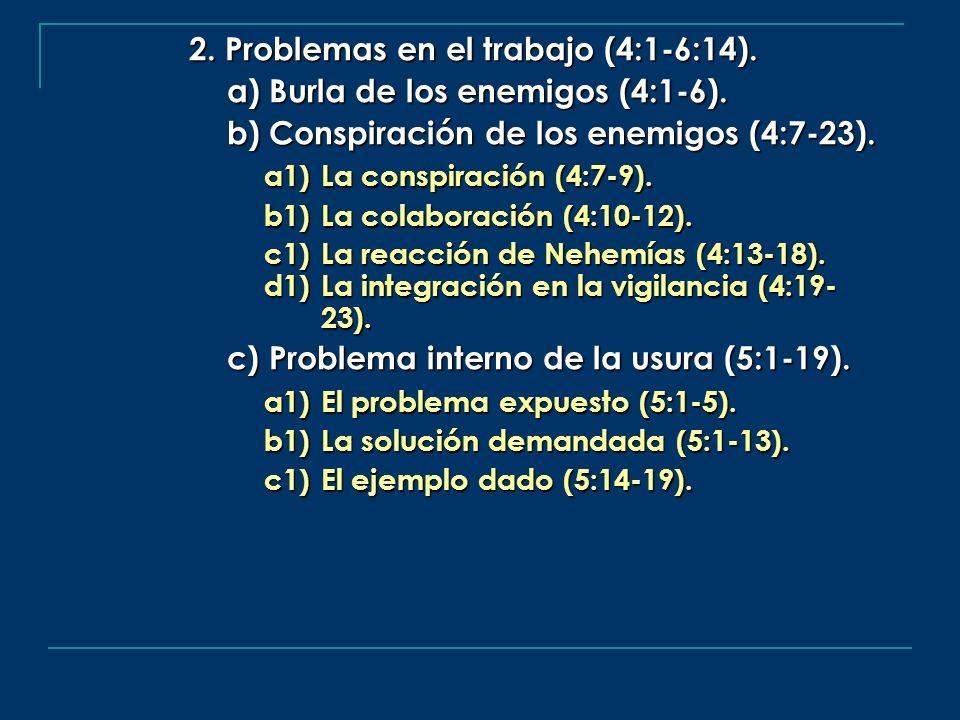 2. Problemas en el trabajo (4:1-6:14).