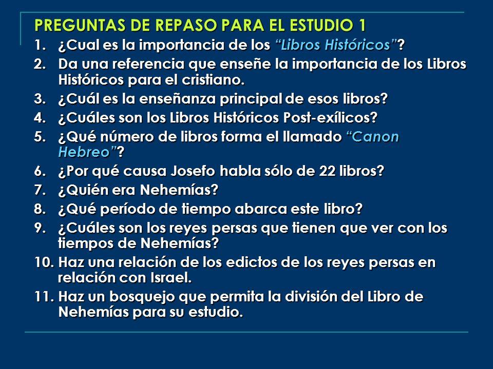 PREGUNTAS DE REPASO PARA EL ESTUDIO 1