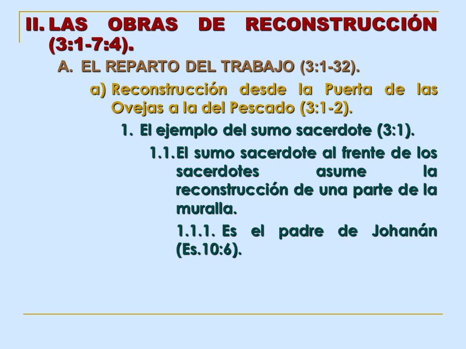 LAS OBRAS DE RECONSTRUCCIÓN (3:1-7:4).
