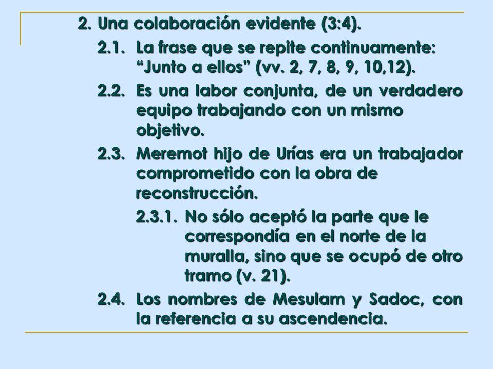 2. Una colaboración evidente (3:4).