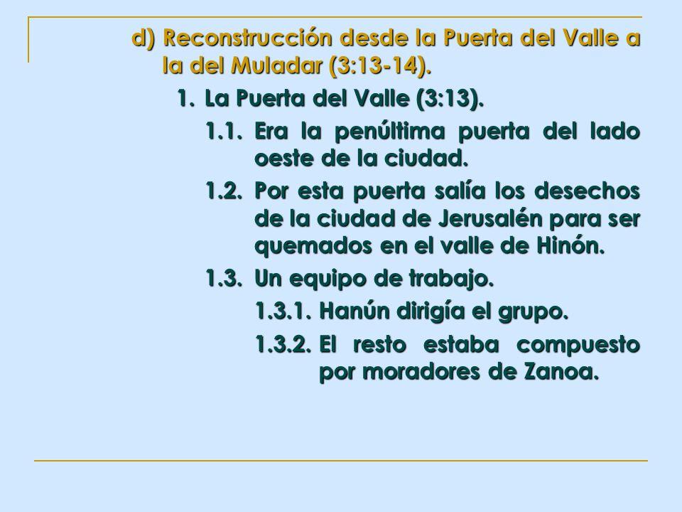 Reconstrucción desde la Puerta del Valle a la del Muladar (3:13-14).