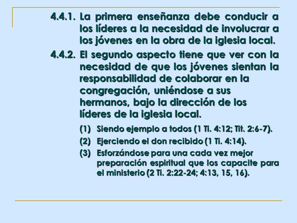 (1) Siendo ejemplo a todos (1 Ti. 4:12; Tit. 2:6-7).