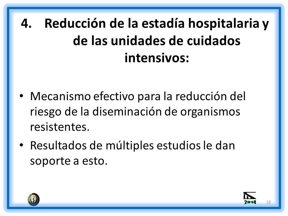 Reducción de la estadía hospitalaria y de las unidades de cuidados intensivos: