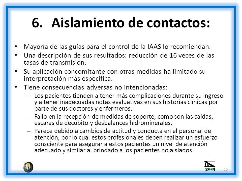 Aislamiento de contactos:
