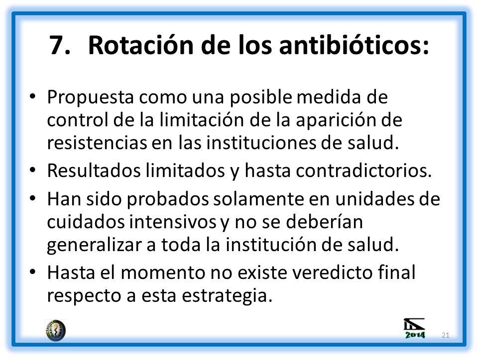 Rotación de los antibióticos:
