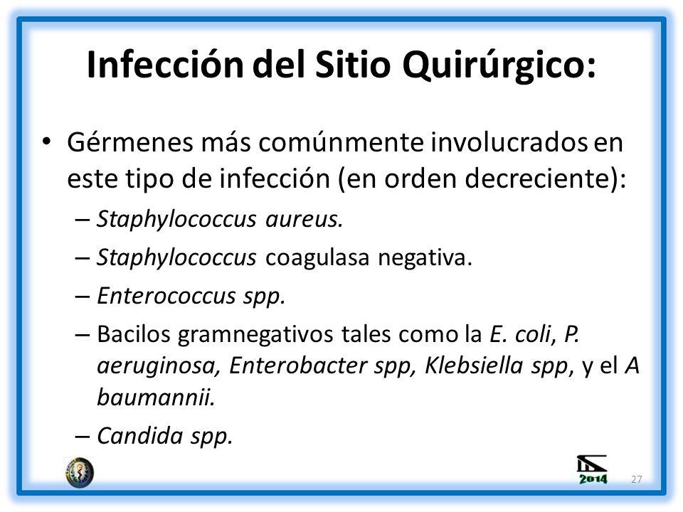 Infección del Sitio Quirúrgico: