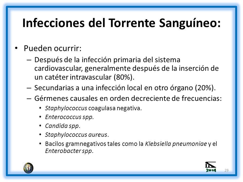 Infecciones del Torrente Sanguíneo: