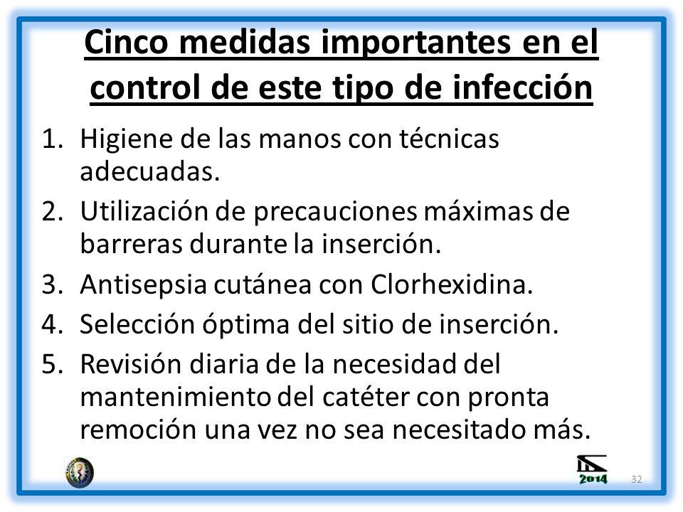 Cinco medidas importantes en el control de este tipo de infección