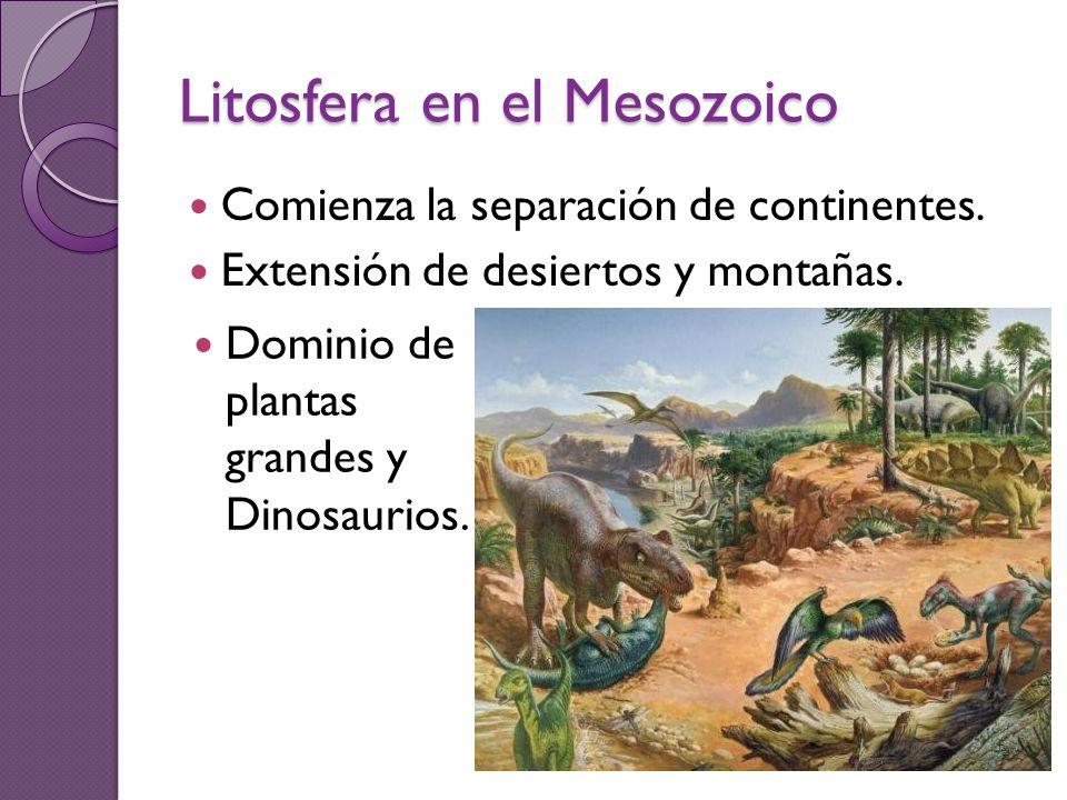 Litosfera en el Mesozoico