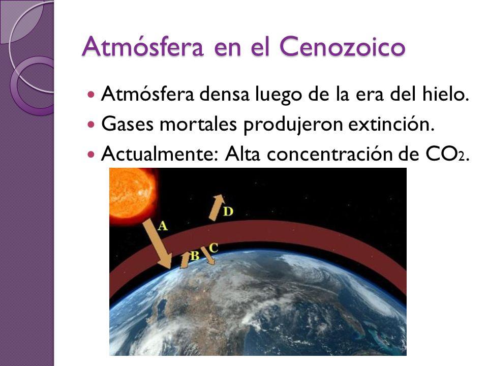Atmósfera en el Cenozoico