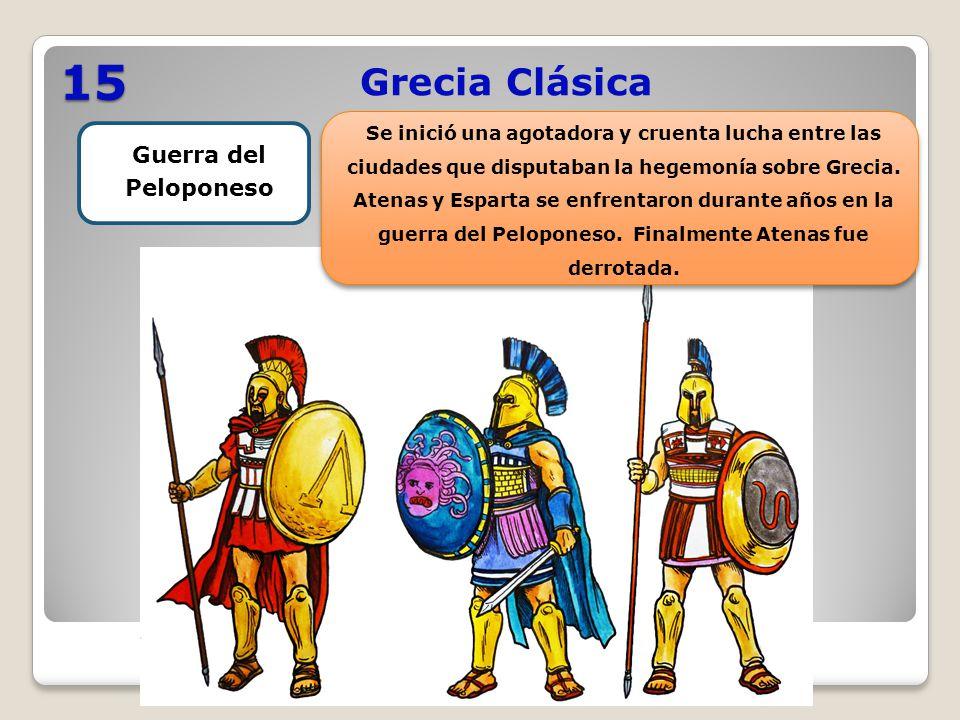 15 Grecia Clásica Guerra del Peloponeso