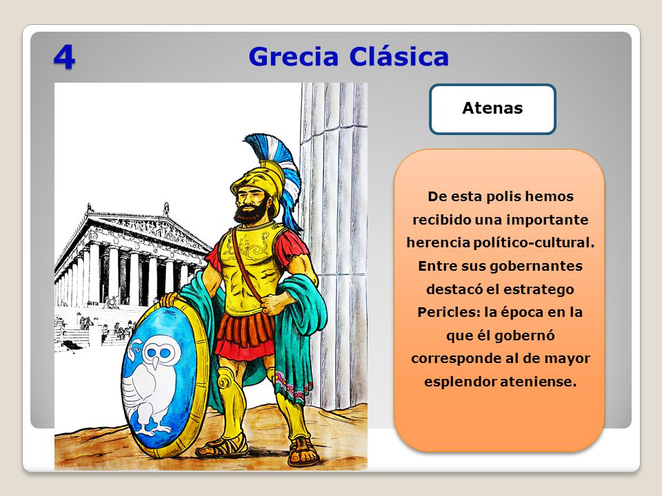 4 Grecia Clásica. Atenas. De esta polis hemos recibido una importante herencia político-cultural.