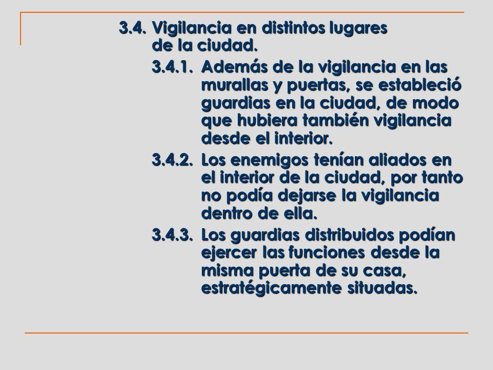 3.4. Vigilancia en distintos lugares de la ciudad.