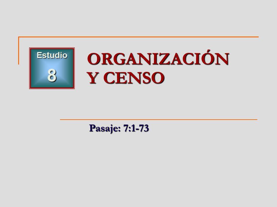 Estudio 8 ORGANIZACIÓN Y CENSO Pasaje: 7:1-73