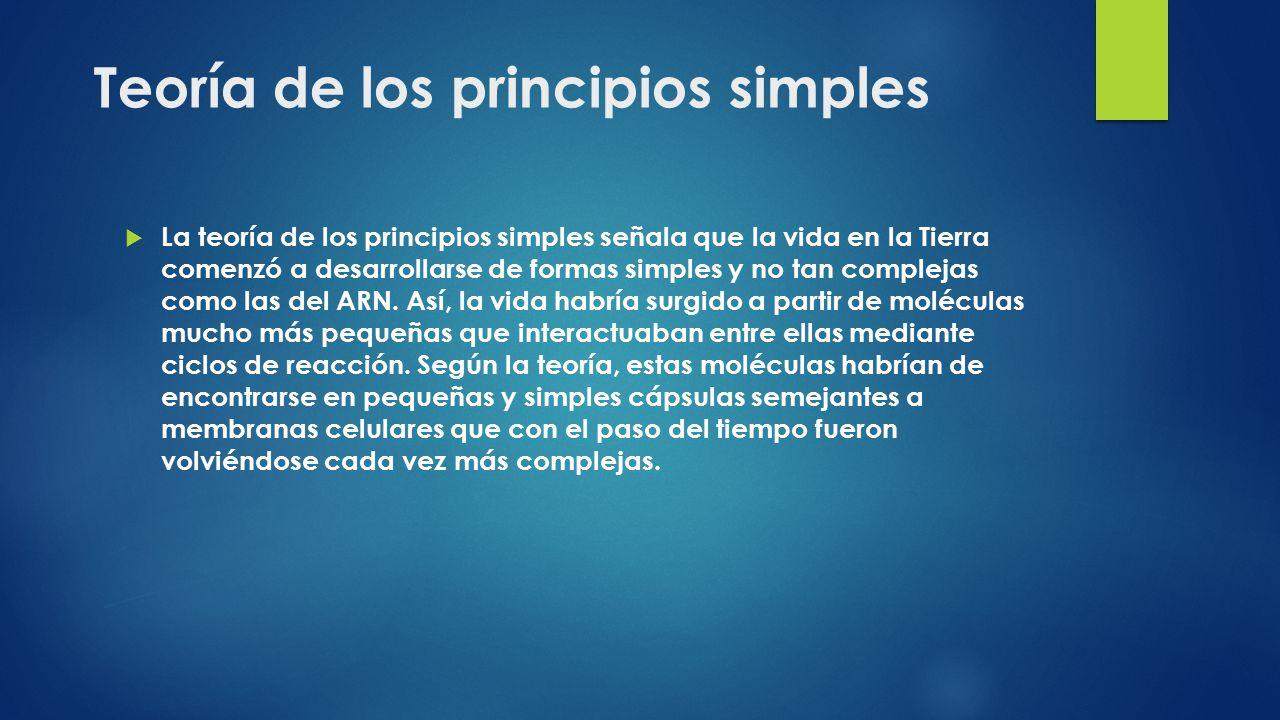 Teoría de los principios simples