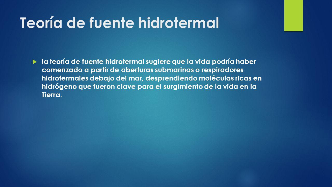Teoría de fuente hidrotermal
