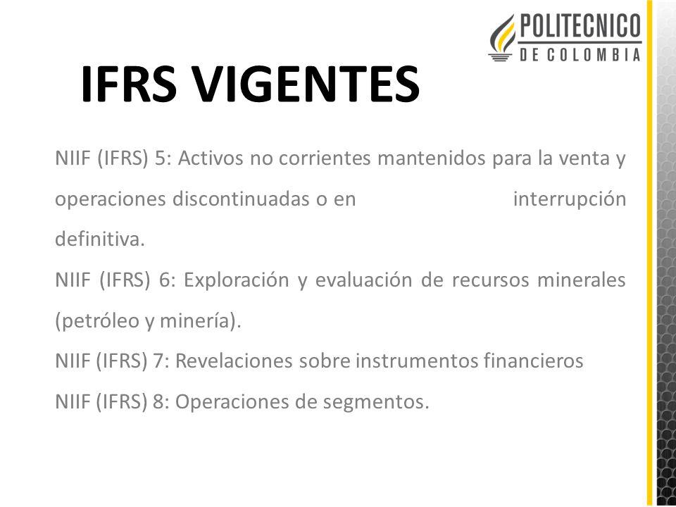 IFRS VIGENTES