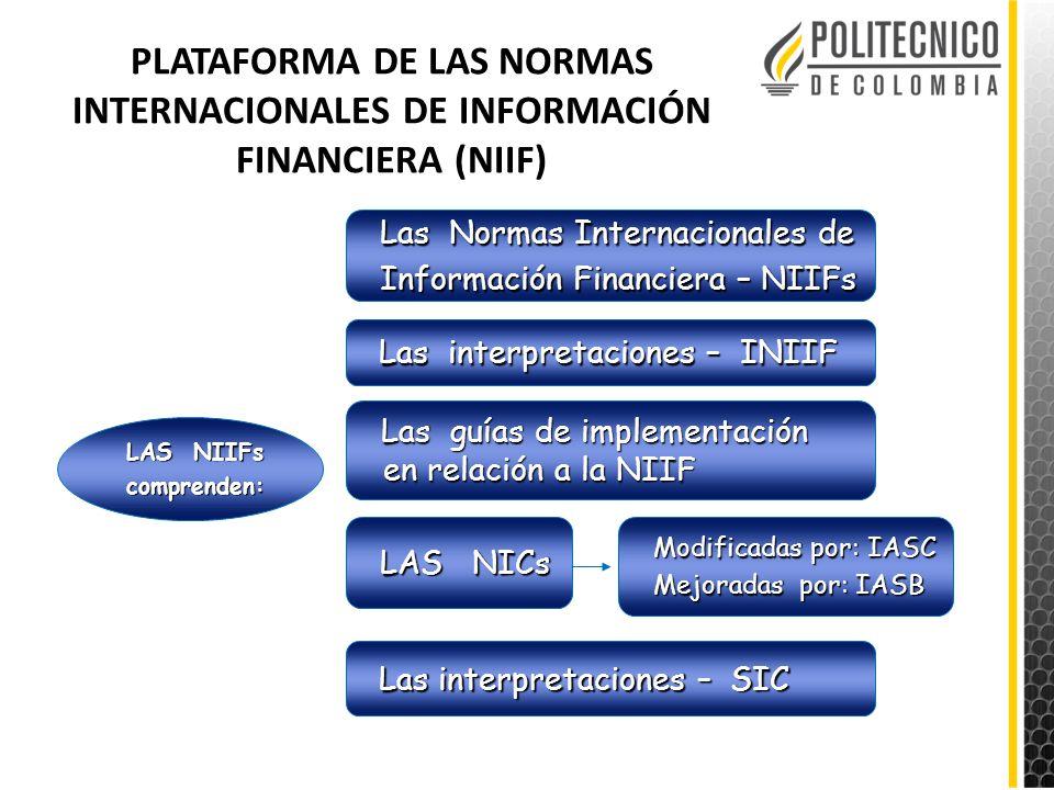 PLATAFORMA DE LAS NORMAS INTERNACIONALES DE INFORMACIÓN FINANCIERA (NIIF)