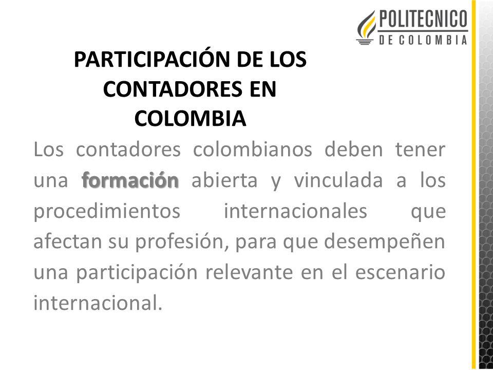 PARTICIPACIÓN DE LOS CONTADORES EN COLOMBIA