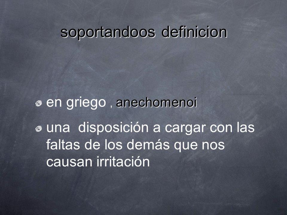 soportandoos definicion