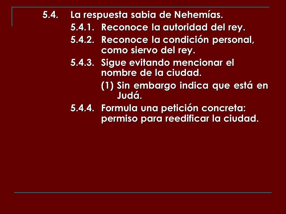 5.4. La respuesta sabia de Nehemías.