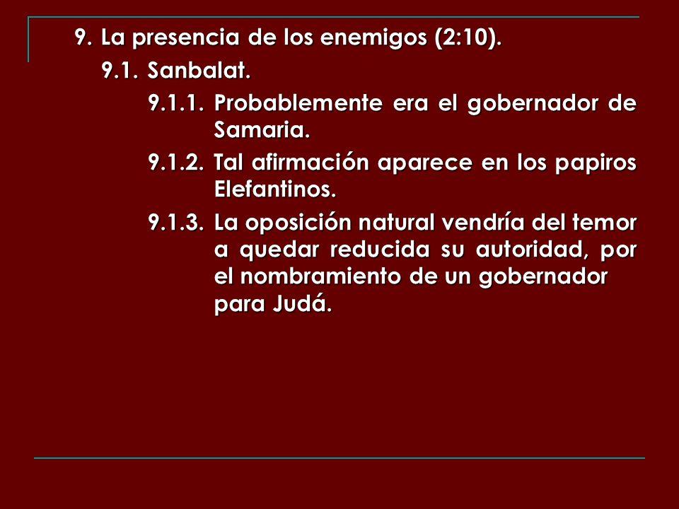 9. La presencia de los enemigos (2:10).