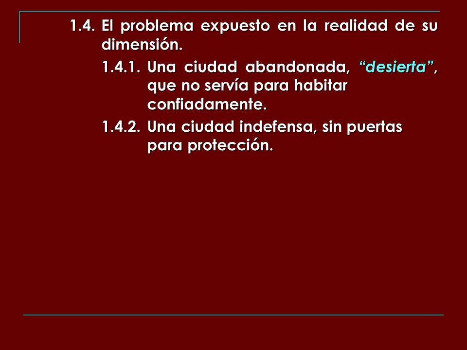 1.4. El problema expuesto en la realidad de su dimensión.