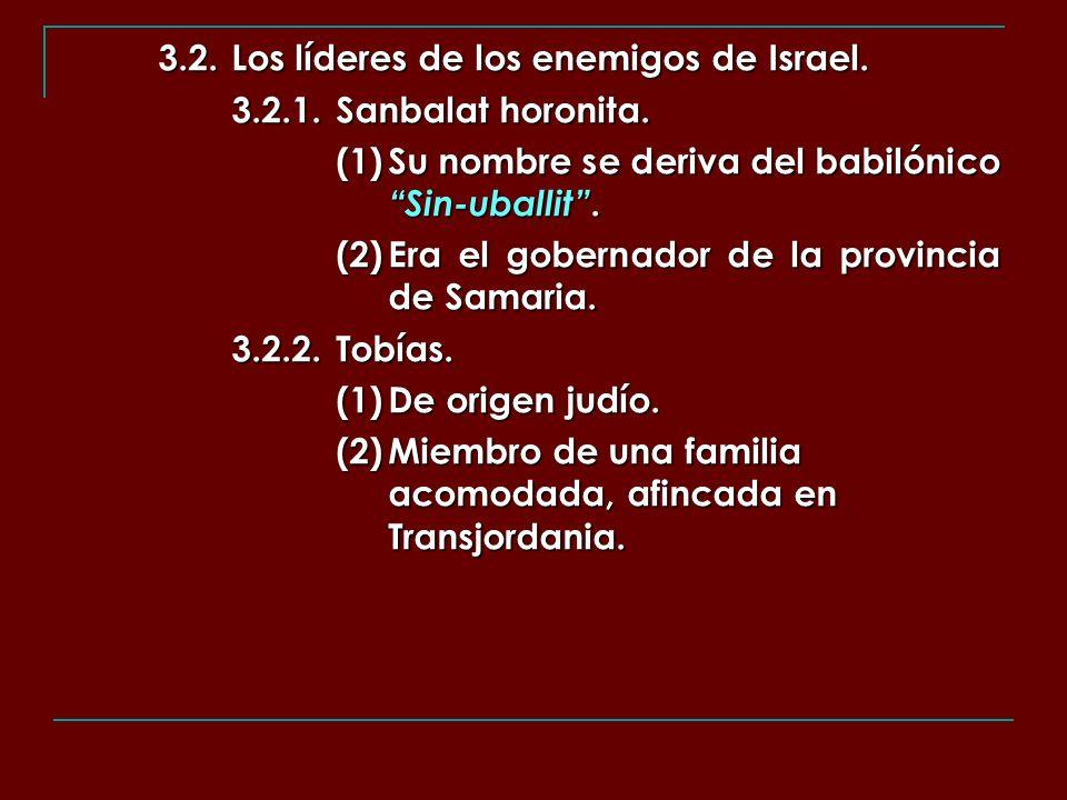 3.2. Los líderes de los enemigos de Israel.