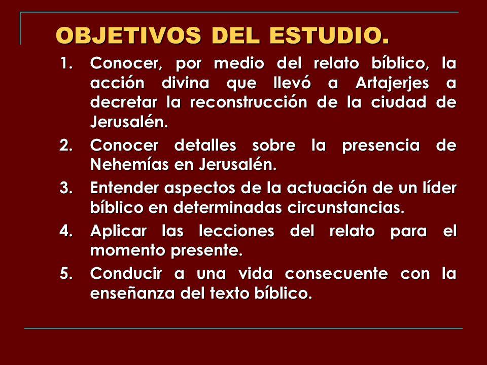 OBJETIVOS DEL ESTUDIO.