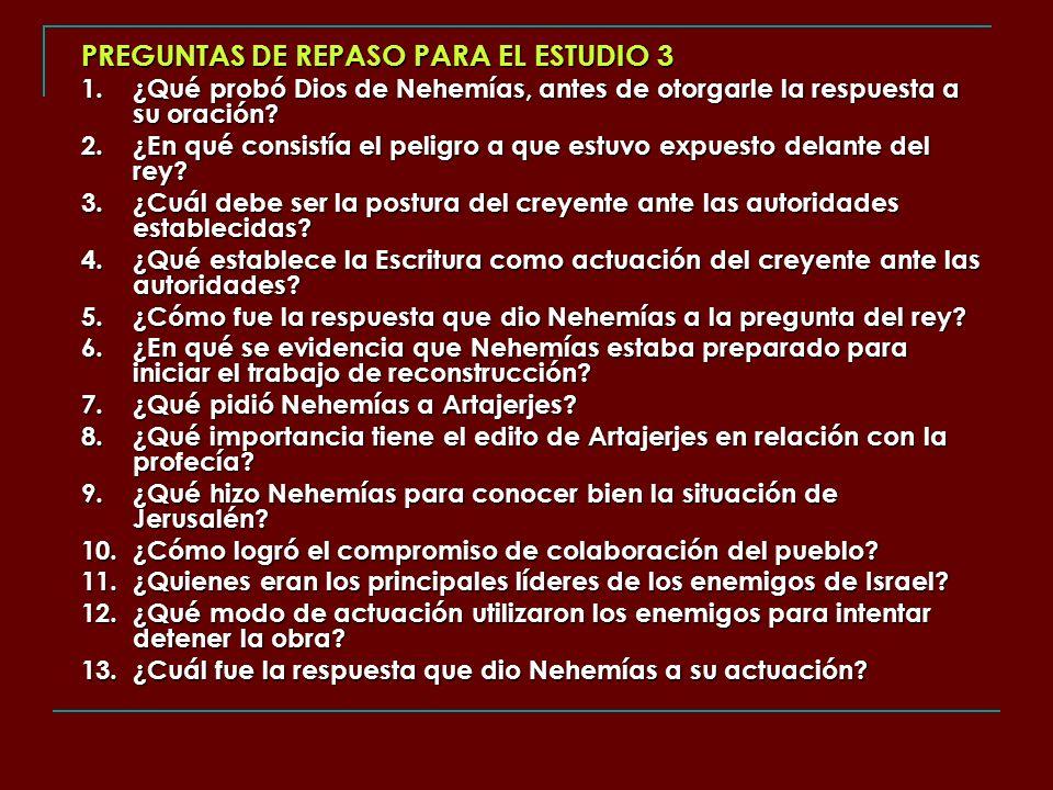 PREGUNTAS DE REPASO PARA EL ESTUDIO 3