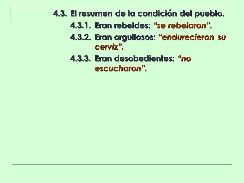 4.3. El resumen de la condición del pueblo.