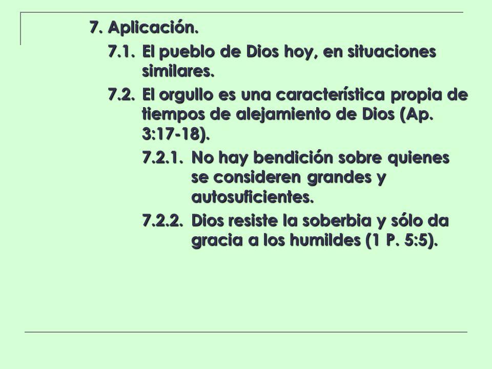 7. Aplicación. 7.1. El pueblo de Dios hoy, en situaciones similares.