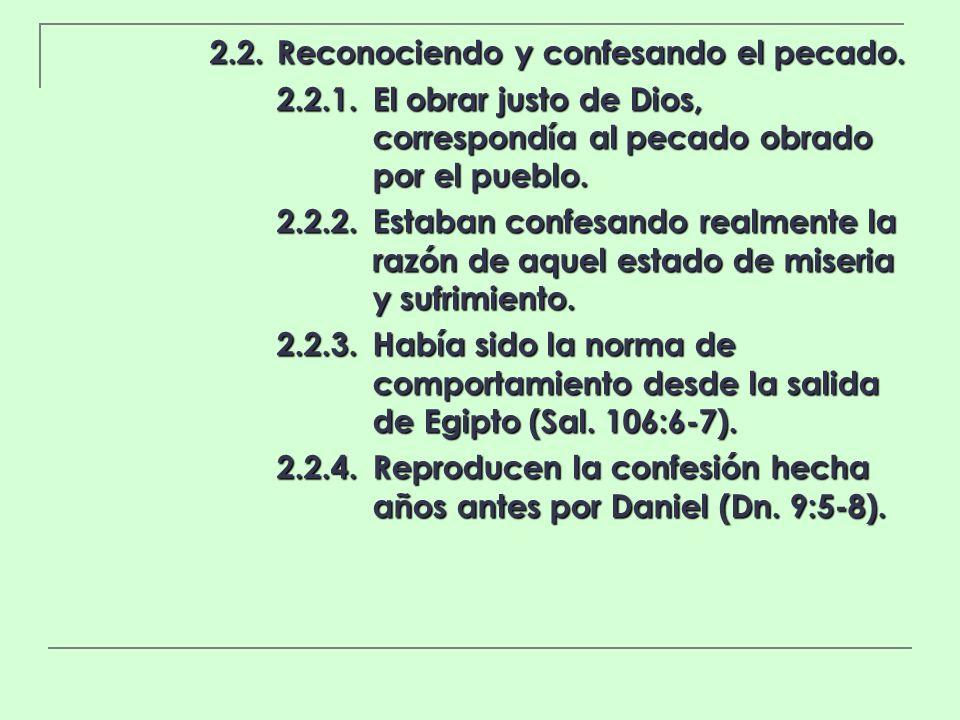 2.2. Reconociendo y confesando el pecado.