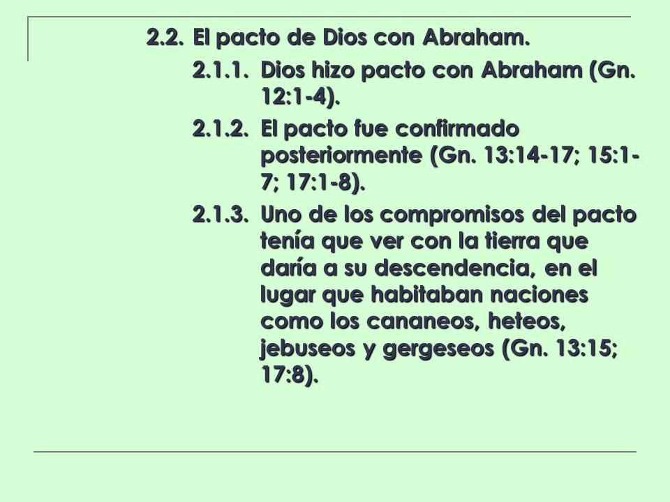 2.2. El pacto de Dios con Abraham.