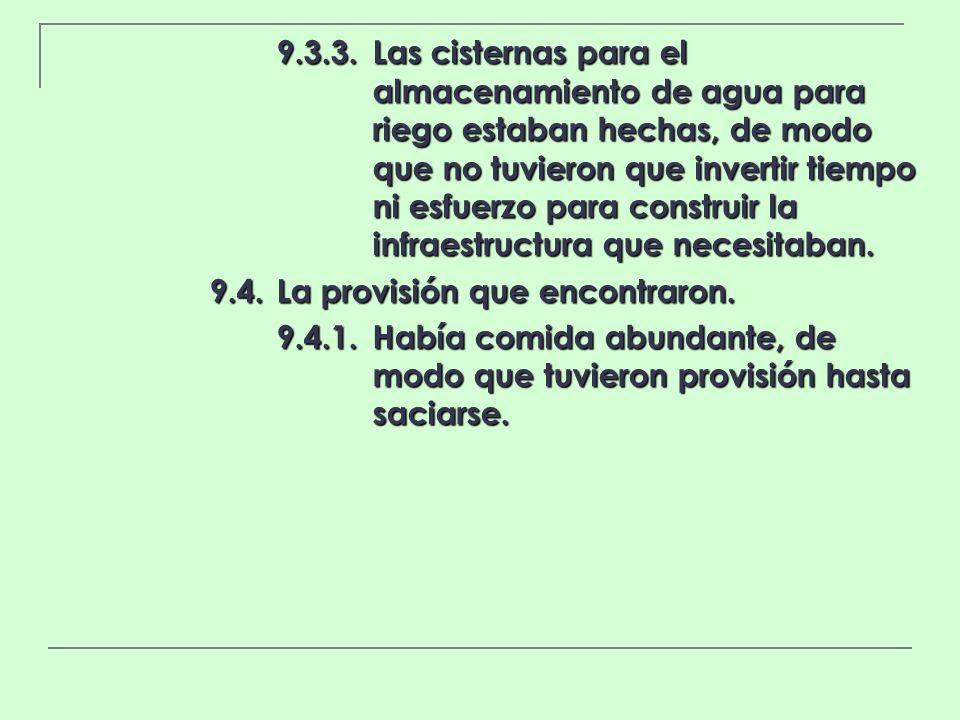 9. 3. 3. Las cisternas para el. almacenamiento de agua para