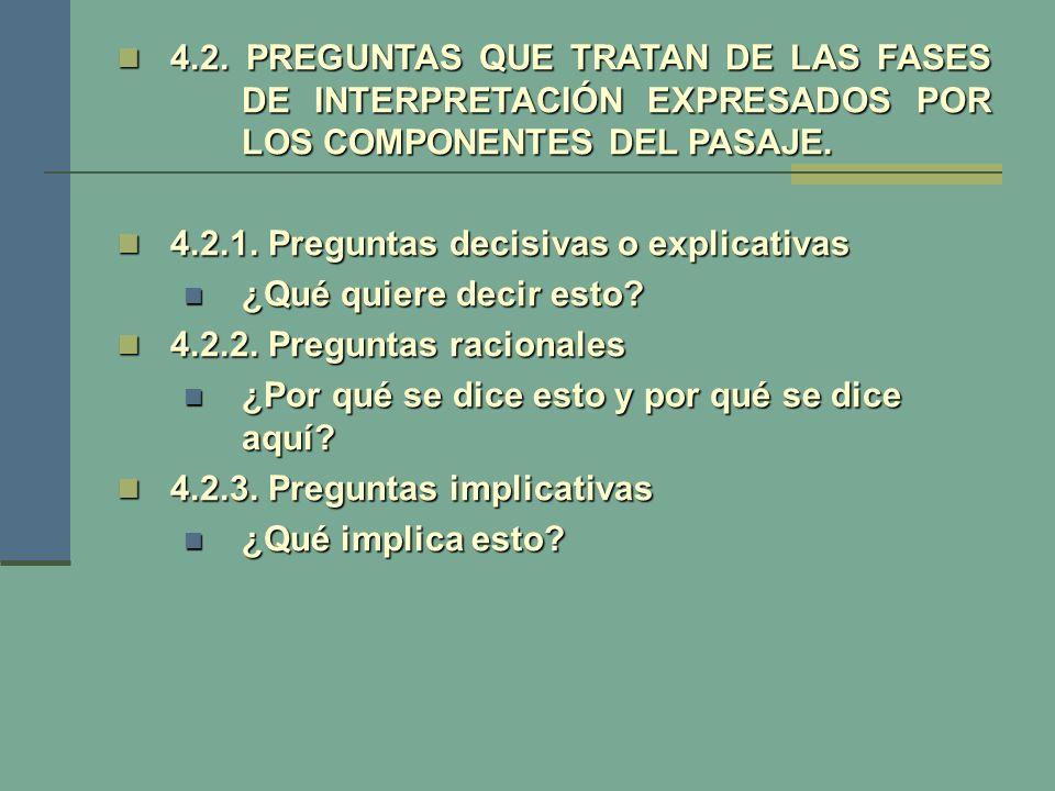 4. 2. PREGUNTAS QUE TRATAN DE LAS FASES