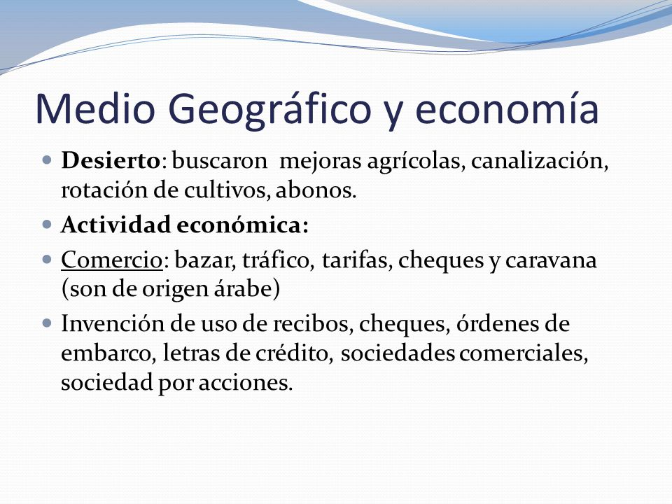 Medio Geográfico y economía