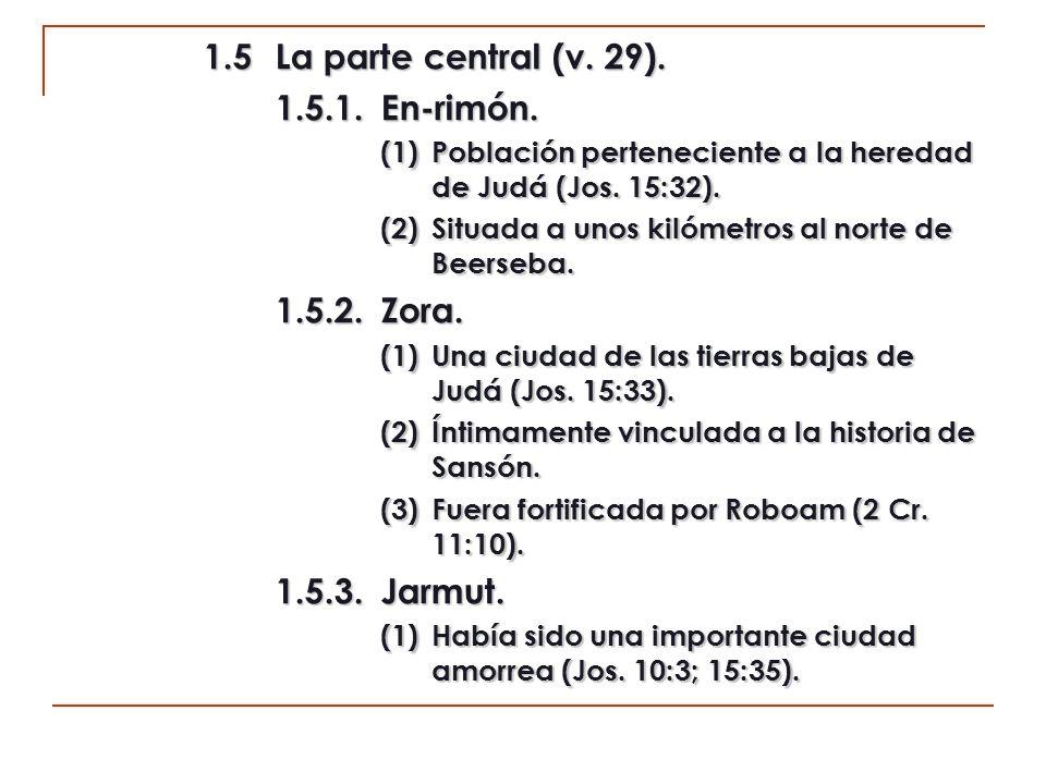 1.5 La parte central (v. 29). 1.5.1. En-rimón. 1.5.2. Zora.