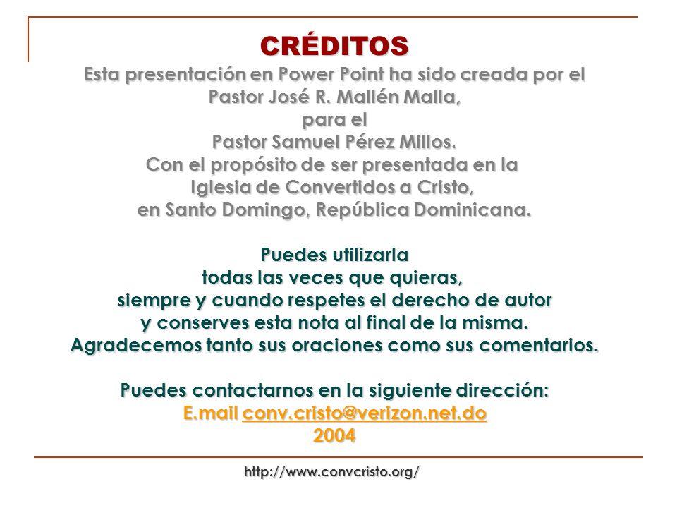 Pastor Samuel Pérez Millos.