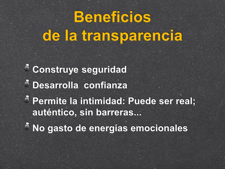 Beneficios de la transparencia
