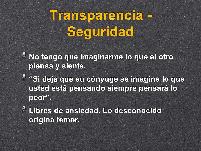 Transparencia - Seguridad